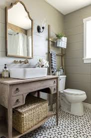 country bathroom ideas. 8 Tags Country Full Bathroom With DIY Wood Plank Walls, Blanton Rectagular Vessel Sink, Counters Ideas O