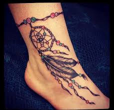 Dream Catcher Ankle Tattoos