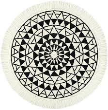 eclipse round black and white rug 6 circle rugs
