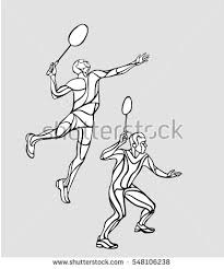 stock vector mens doubles badminton players vector illustration 548106238 badminton player stock images, royalty free images & vectors on pixel player template