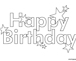 Small Picture Free Printable Happy Birthday Coloring Pages Coloring beach