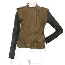 details about auth neil barrett leather jacket vest vintage brown size xs women 90063882