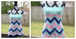 diy crochet chevron tank top