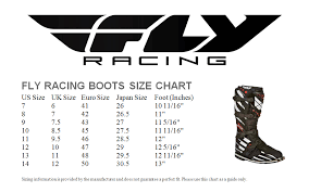 Racing Shoe Size Chart Details About Fly Street Milepost Ii Boot Leather Riding Waterproof Black Sizes 7 14