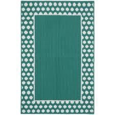 garland rug polka dot frame teal white 3 ft x 4 ft area