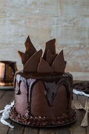 Chocolate Cake With Chocolate Buttercream Ganaches And Shards