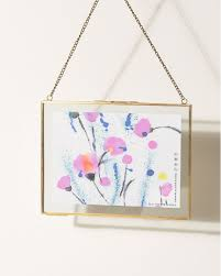 gold glass landscape hanging photo frame 8x6