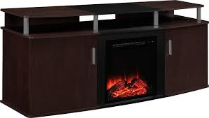 review altra furniture carson fireplace tv console 70 cherry black great tv stand