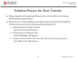 calculation of energy equation solution process for heat transfer