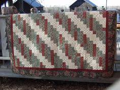 Twin bed quilt, handmade quilt for sale, patriotic quilt ... & Christmas quilt, homemade quilt for sale, country quilt, handmade quilt,  Christmas gift, Christmas wallhanging, log cabin, lap quilt Adamdwight.com