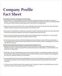 Company Fact Sheet Sample 37 Sample Fact Sheets