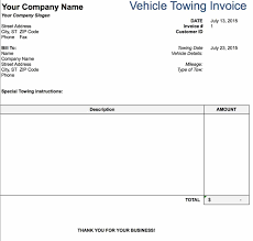 Awful Towing Invoice Form Example Road Service Tow Truck Sample Free