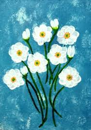 white flower painting white flowers acrylic on canvas painting large white flower paintings