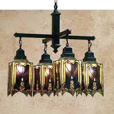 cottage mission style tiffany stained glass chandelier