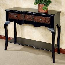 black console table with storage. Furniture, Console Tables With Storage Black Modern Table Basket And Drawers In C