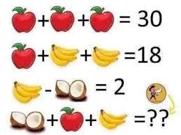 المعادلة الرياضية تبدو سهلة بالنسبة ولكنك تستطيع حلها