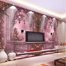 Beautiful Wallpaper Design For Home Decor 100 New Fashion 100D Landscape Wallpaper Rose Tree Window Wall Paper 8
