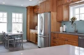 golden oak cabinets