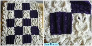 Crochet Owl Blanket Pattern Free Amazing Adorable Knit Cable Owl Blanket Free Pattern DIY 48 EVER