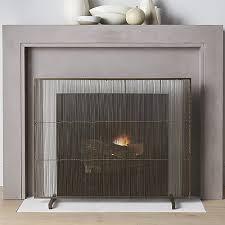 antiqued brass fireplace screen