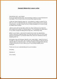Maternity Leave Letter Format Employee Expert Depict 1 Letter Of For
