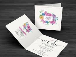 Wedding Invitation Folding Water Colour Floral Wedding Invitation Now Forever Ireland Uk