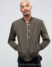 men s jackets coats esprit quilted nylon er jacket in khaki 905102