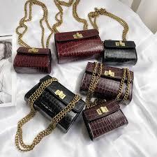 Designer Mini Crossbody Bag Stone Pattern Mini Crossbody Bags For Women 2019 Quality Pu Leather Ladies Chain Designer Handbags Lock Shoulder Messenger Bag