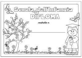 Diploma Scuola Infanzia Per Bambini Tuttodisegnicom