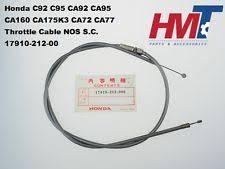 honda c92 c95 ca92 ca95 ca160 ca175k3 ca72 ca77 throttle cable nos s c