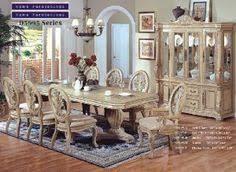 Inland Empire Furniture Brianna White Wash Solid Wood 7 Piece