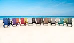 adirondack chairs on beach. Adirondack Chairs On Beach T