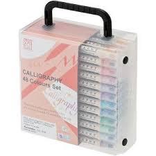 Zig Calligraphy Dual-Tip Markers 48/Pkg | Школьные вещи ...