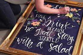 Diy Wedding Decor Ideas Hgtv Welcome Sign Weddings Sarah Types Most Delightful Way Budget Sarahtypes Hand Lettered Hgtvhome Dimg Content Dam Images Editorial