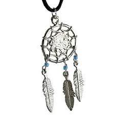 Indian Chief Dream Catcher Extraordinary American Indian Chief Dream Catcher Feathers Blue Beads Pendant