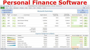 Financial Excel Spreadsheet Top Budget Software Personal Finance Software Simple