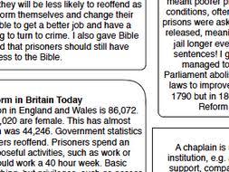 Prison Chaplain Job Eduqas Rs Gcse New Spec Issues Of Good And Evil Prison Reform And