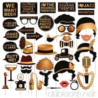 Roaring 20's Party <b>Photo Booth</b> Props Kit Large 42pcs Vintage ...