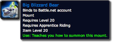 Blizzcon mount not usable until after blizzcon. Blizzcon Wow Loot Murky Murloc Costume Blizzard Bear Mount Grunty