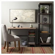 Franklin Desk with Shelves -Gray - The Industrial Shop