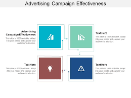 Advertising Charts And Graphs Advertising Campaign Effectiveness Ppt Powerpoint