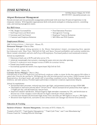 Captivating Resume Restaurant Manager Skills With Resume Fast Food