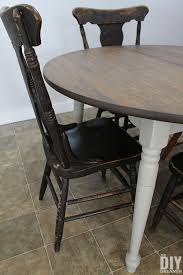 to paint a table and stain a tabletop