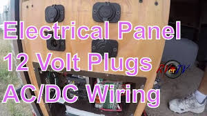 cargo trailer conversion electrical wiring 12 volt plugs ac cargo trailer conversion electrical wiring 12 volt plugs ac dc power panel rvertv
