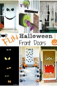 With Halloween is right around the corner, here are so many fun ways to decorate  your front door ...