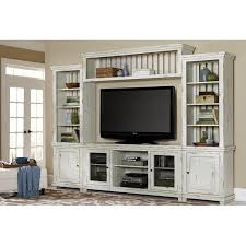 Distressed White 4 Piece Rustic Entertainment Center  Willow Rustic Entertainment Center N78