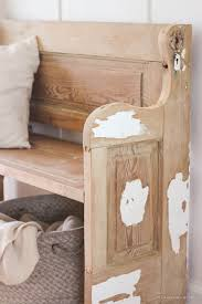 see how an old wood door transforms into a gorgeous rustic bench get the