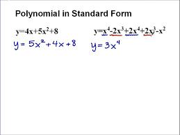 standard form polynomial definition polynomials vertex circle equation line calculator slope intercept math algebra icon wo
