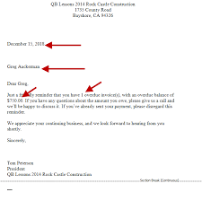 Delinquent Account Letter Template Sending Collection Letters Experts In Quickbooks