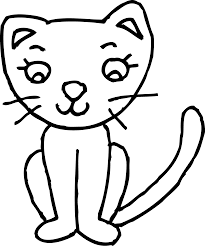 black and white cat clipart. Black And White Kitty Clipart In Cat
